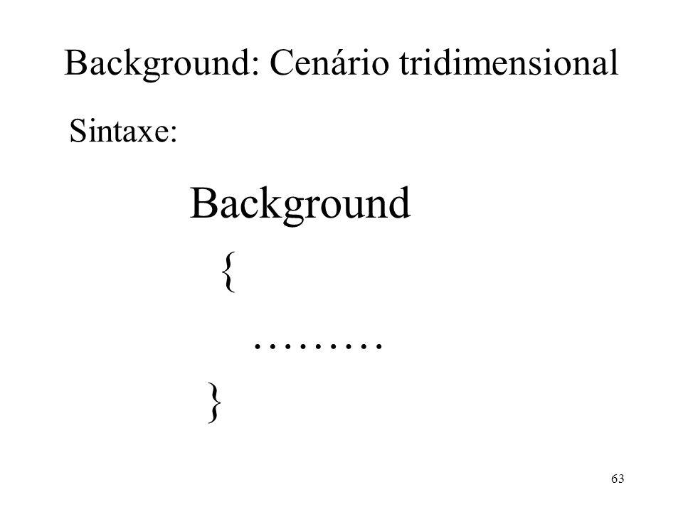 Background: Cenário tridimensional