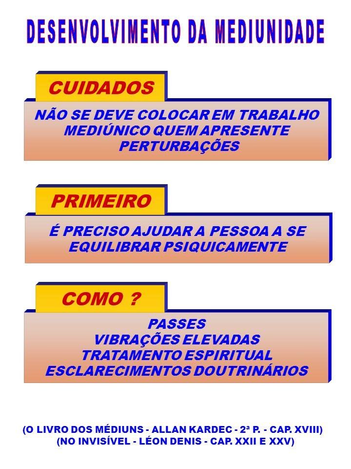 DESENVOLVIMENTO DA MEDIUNIDADE