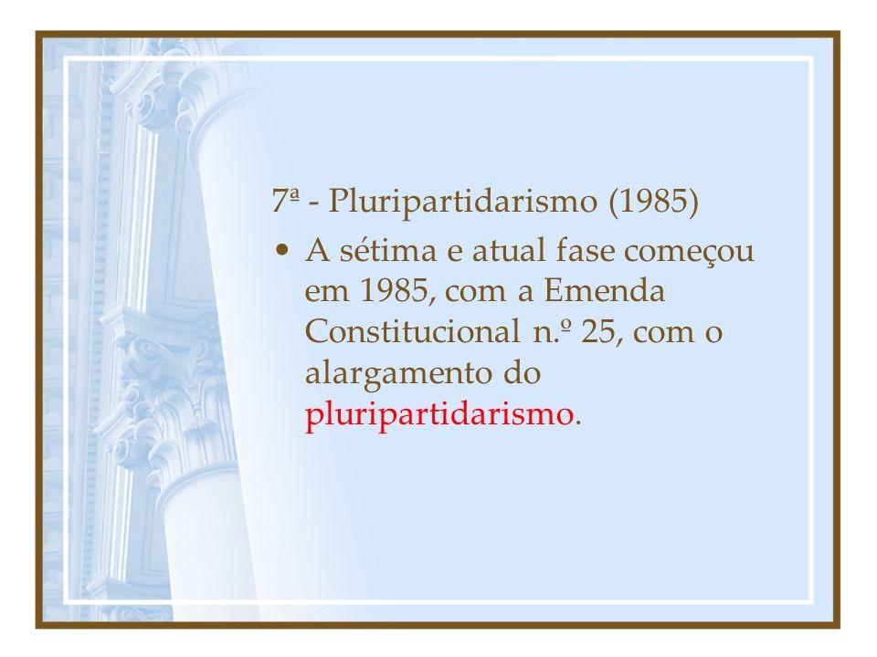 7ª - Pluripartidarismo (1985)