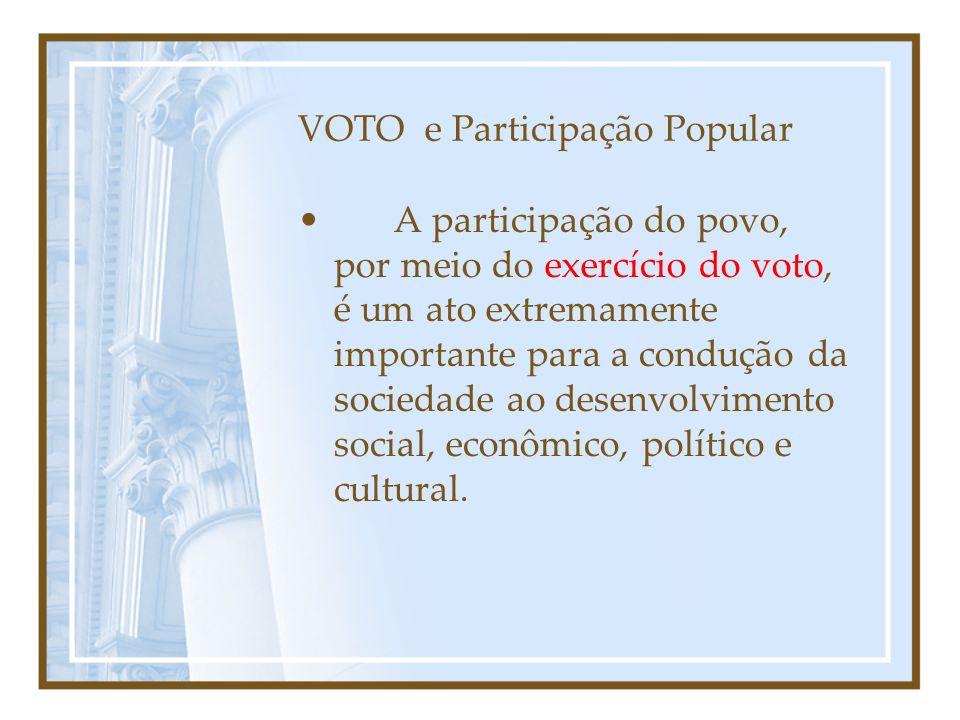 VOTO e Participação Popular