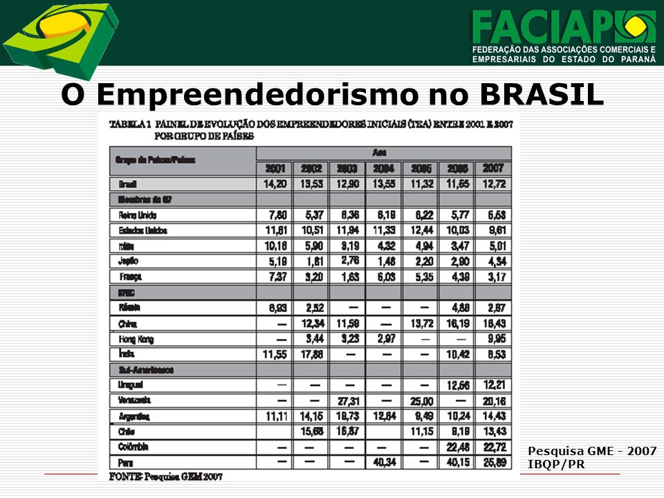 O Empreendedorismo no BRASIL