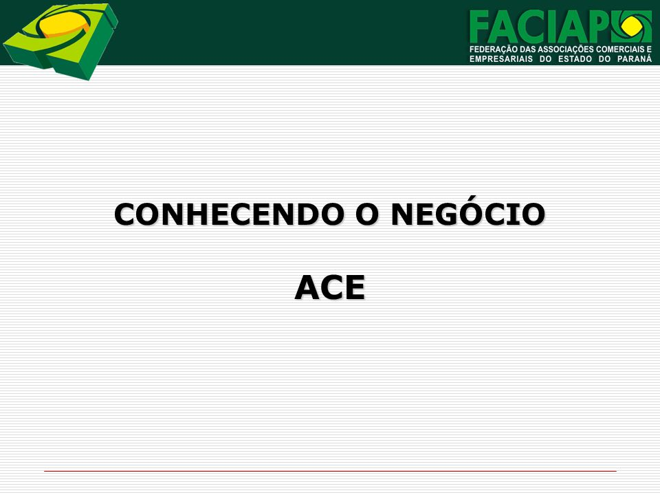 CONHECENDO O NEGÓCIO ACE