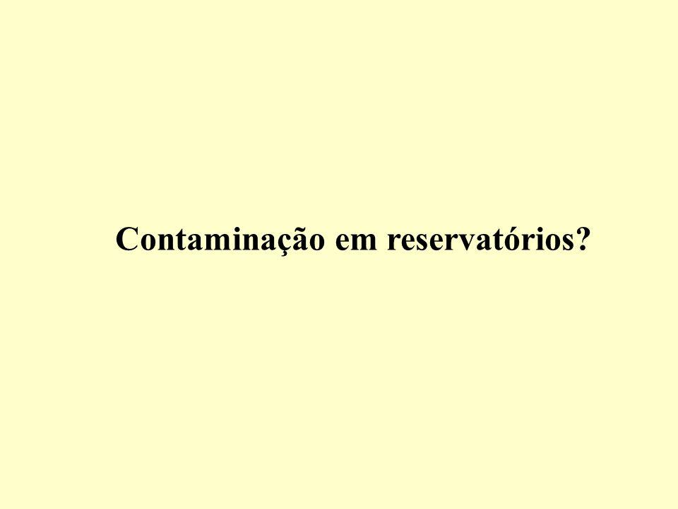 Contaminação em reservatórios