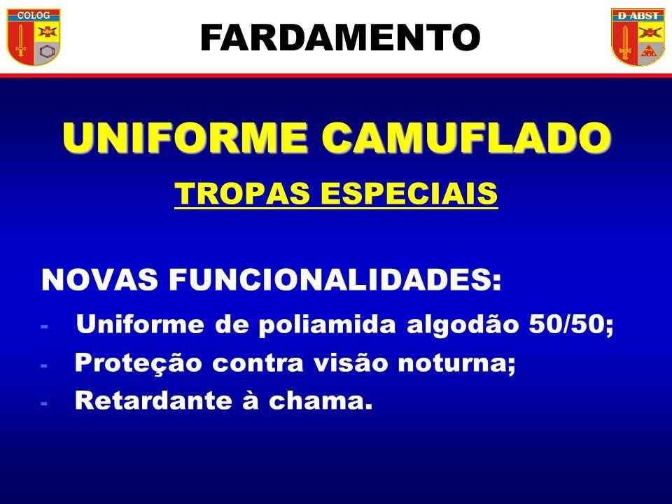 UNIFORME CAMUFLADO FARDAMENTO TROPAS ESPECIAIS NOVAS FUNCIONALIDADES: