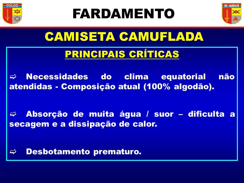 FARDAMENTO CAMISETA CAMUFLADA PRINCIPAIS CRÍTICAS