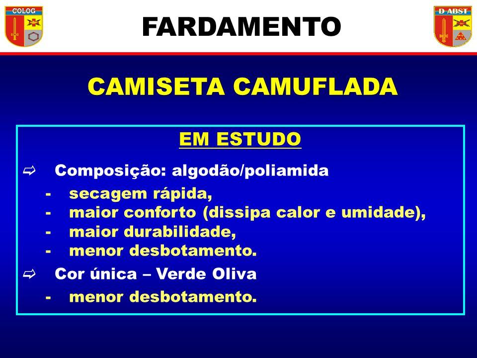 FARDAMENTO CAMISETA CAMUFLADA EM ESTUDO Composição: algodão/poliamida