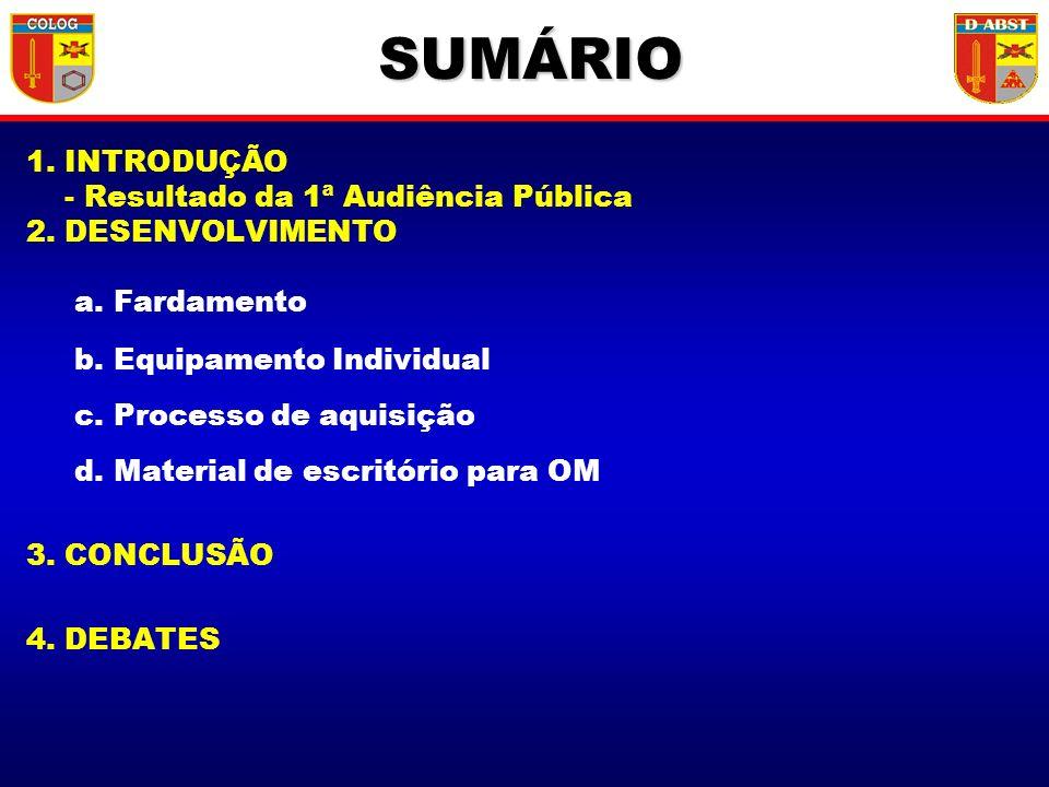 SUMÁRIO 1. INTRODUÇÃO - Resultado da 1ª Audiência Pública