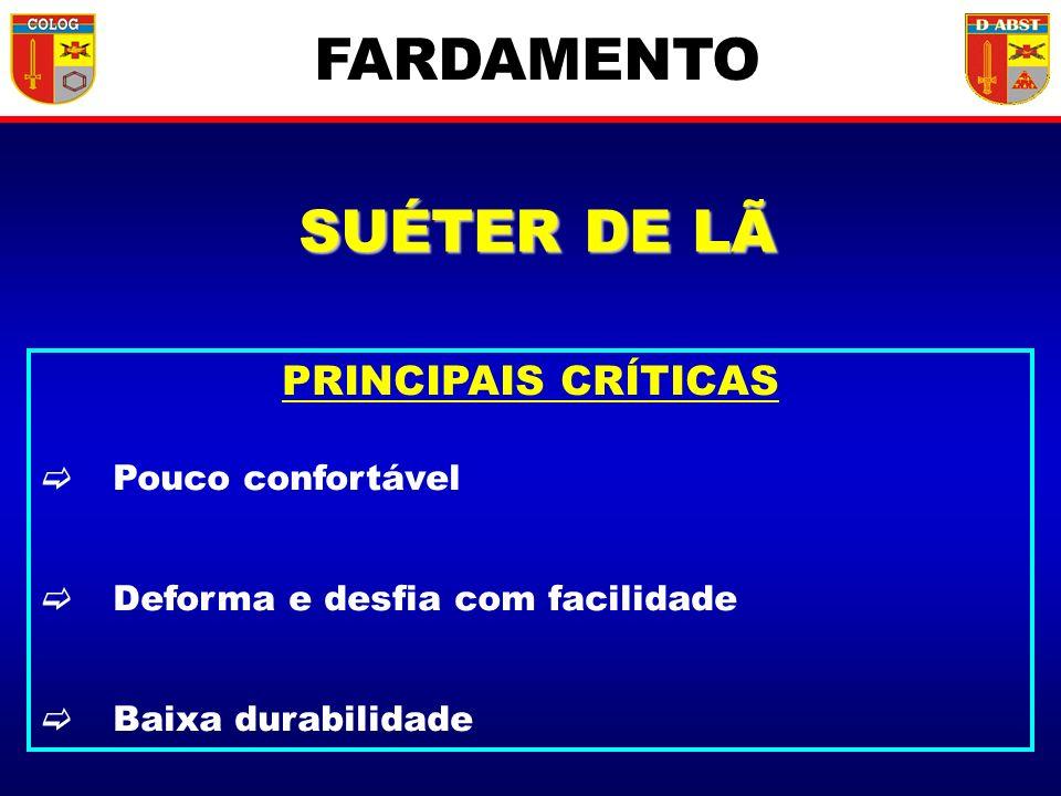 FARDAMENTO SUÉTER DE LÃ PRINCIPAIS CRÍTICAS Pouco confortável