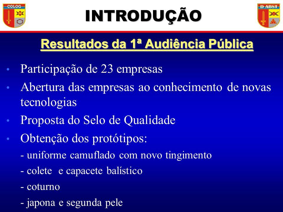 Resultados da 1ª Audiência Pública