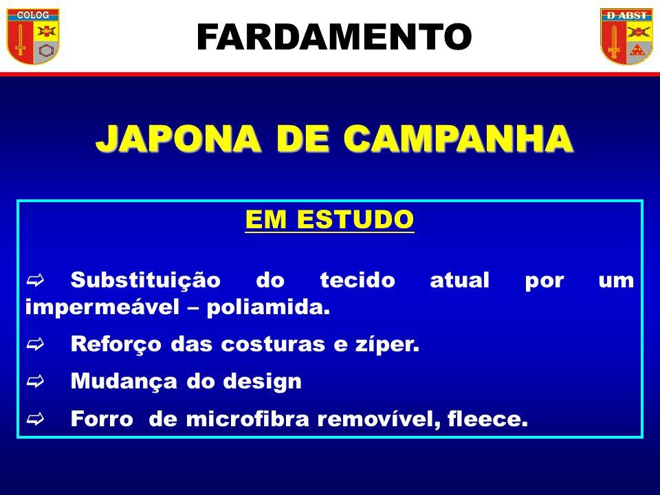 FARDAMENTO JAPONA DE CAMPANHA EM ESTUDO