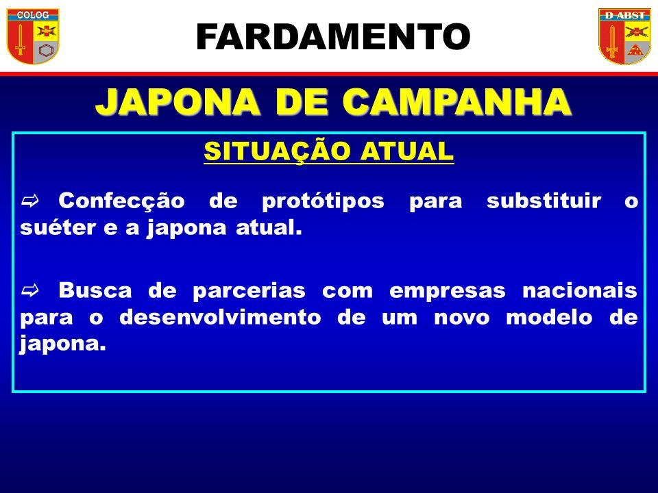 FARDAMENTO JAPONA DE CAMPANHA SITUAÇÃO ATUAL
