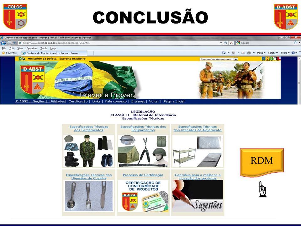 CONCLUSÃO RDM ☞