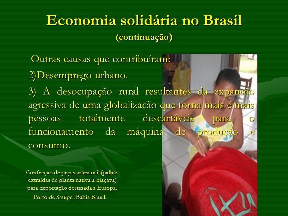 Economia solidária no Brasil (continuação)