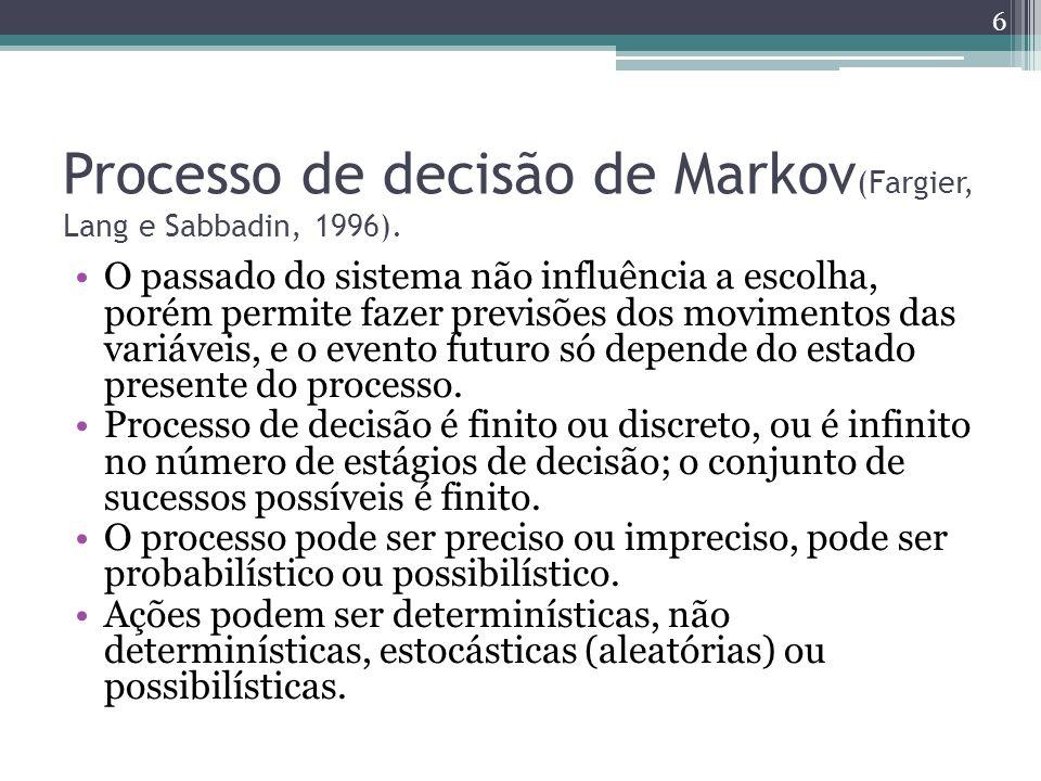 Processo de decisão de Markov(Fargier, Lang e Sabbadin, 1996).
