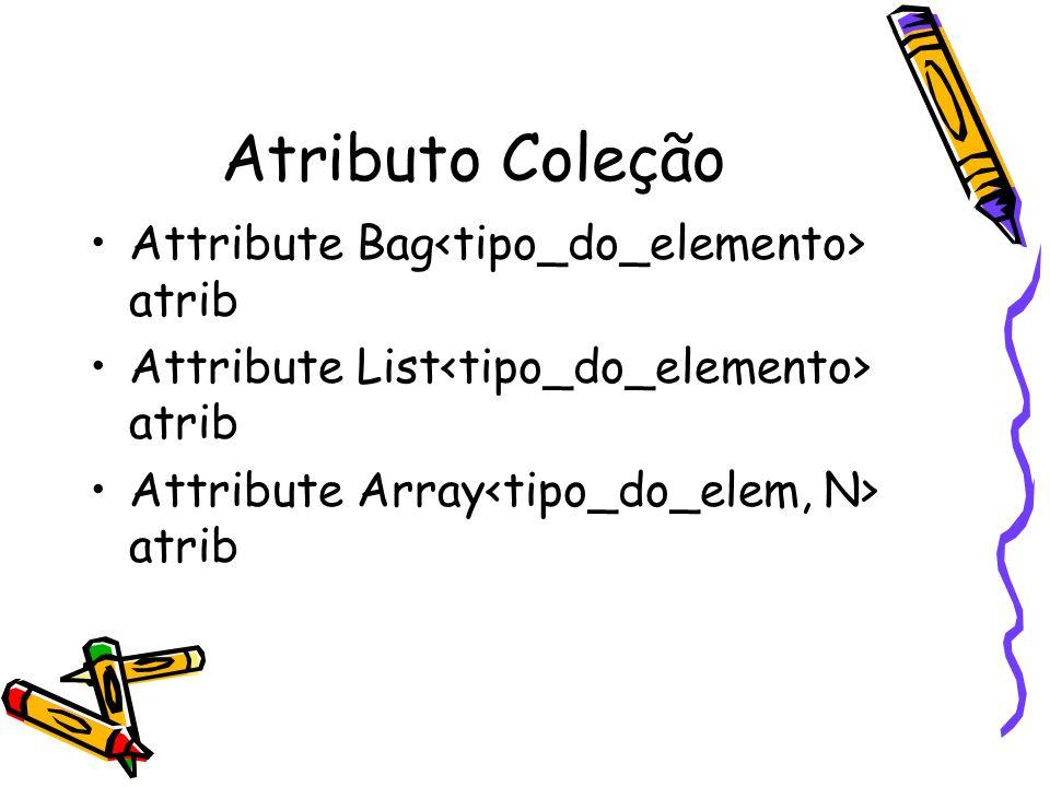 Atributo Coleção Attribute Bag<tipo_do_elemento> atrib