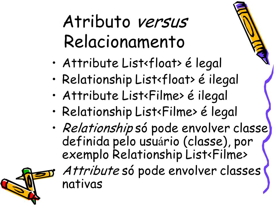 Atributo versus Relacionamento