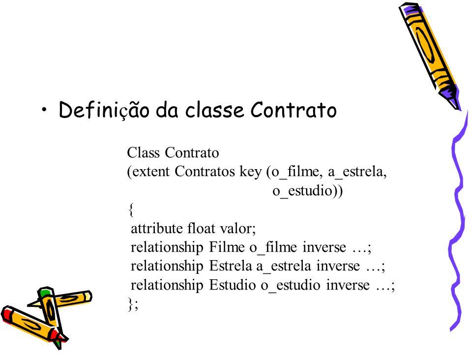 Definição da classe Contrato