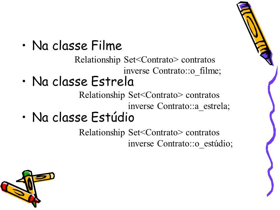 Na classe Filme Na classe Estrela Na classe Estúdio