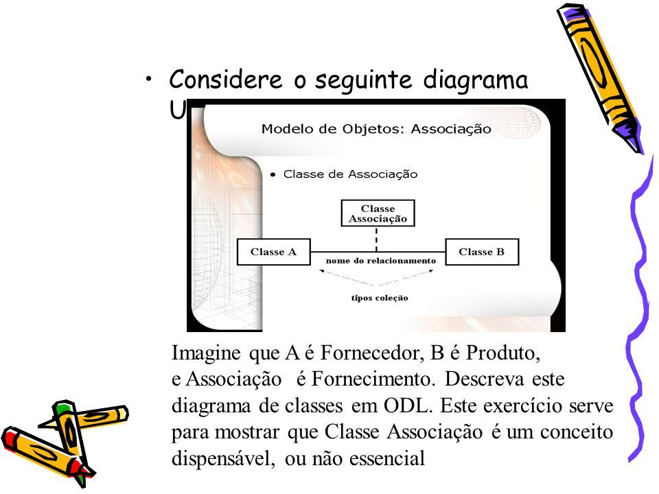 Considere o seguinte diagrama UML