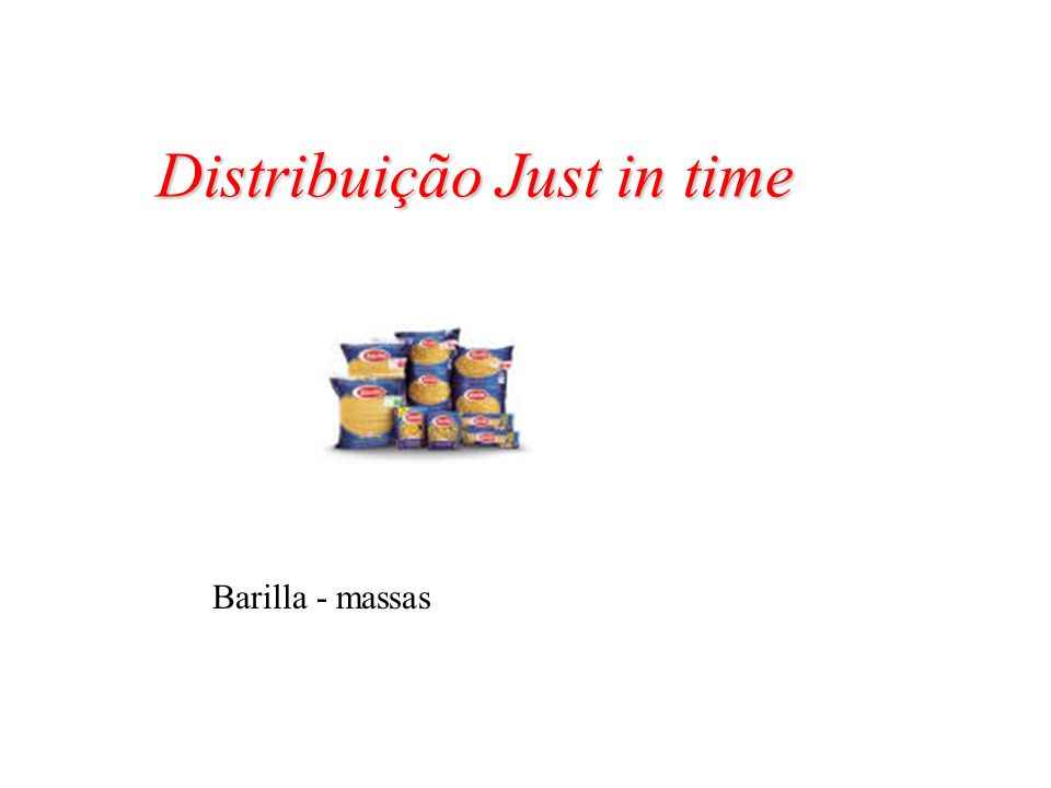 Distribuição Just in time