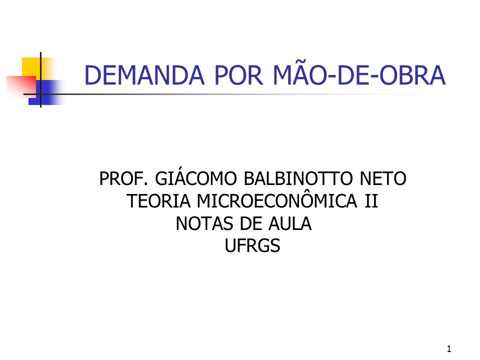 DEMANDA POR MÃO-DE-OBRA