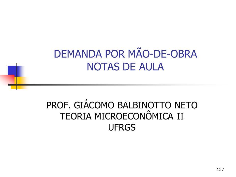 DEMANDA POR MÃO-DE-OBRA NOTAS DE AULA