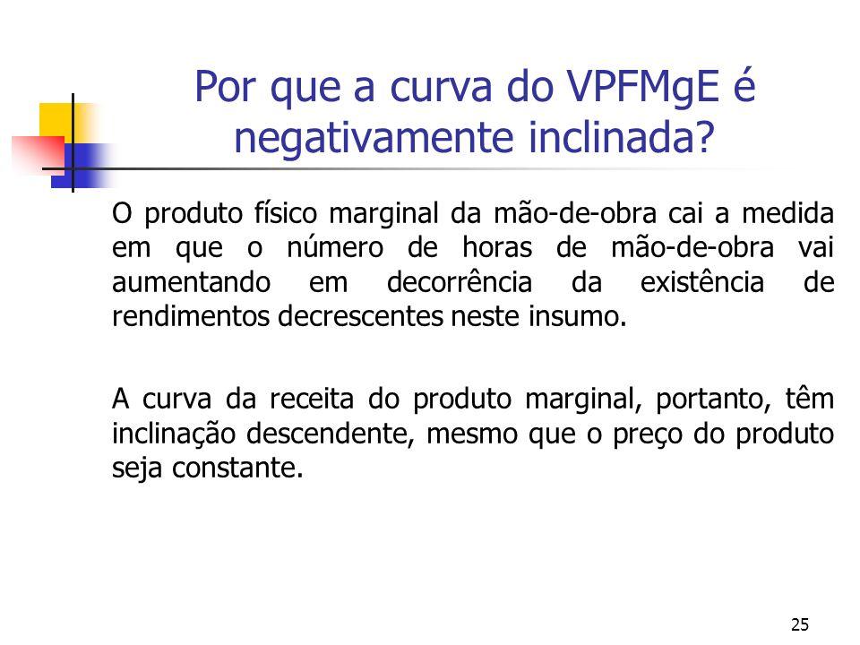 Por que a curva do VPFMgE é negativamente inclinada