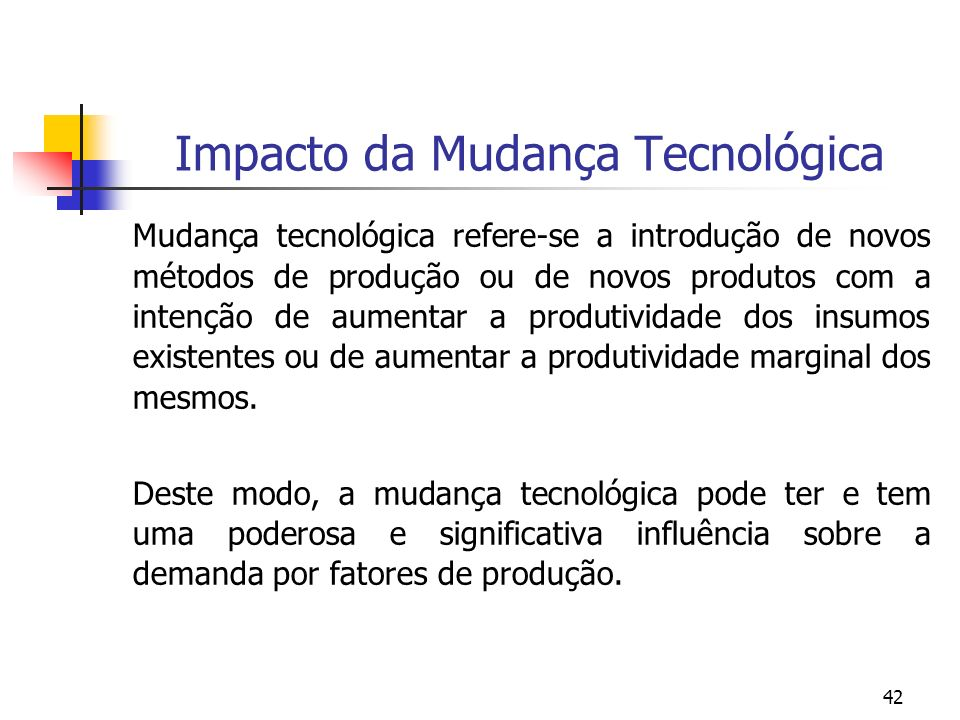 Impacto da Mudança Tecnológica