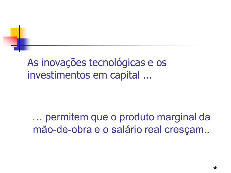 As inovações tecnológicas e os investimentos em capital ...