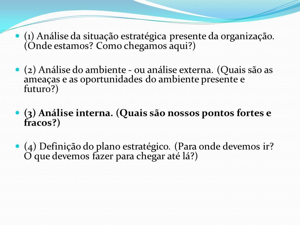 (1) Análise da situação estratégica presente da organização