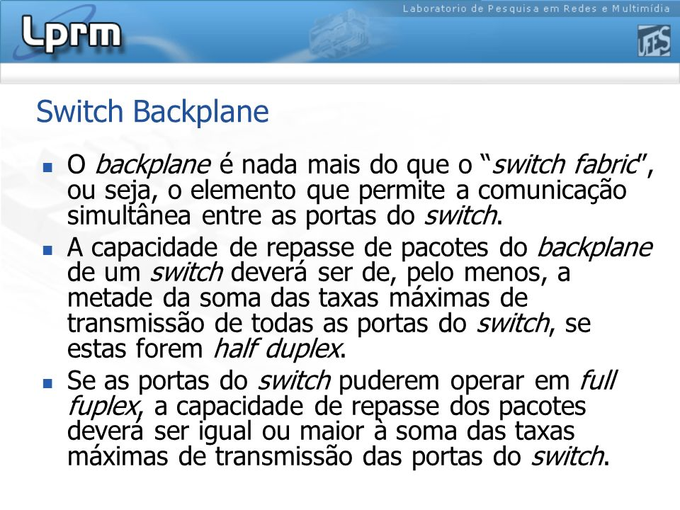Switch Backplane