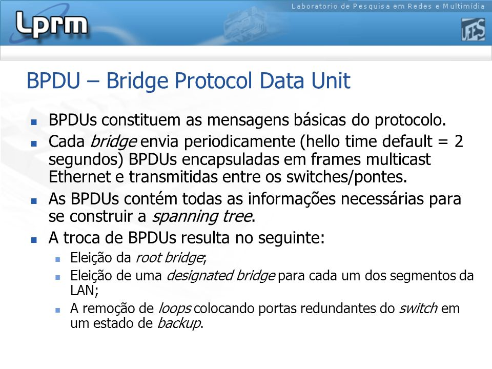 BPDU – Bridge Protocol Data Unit