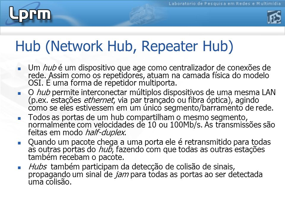 Hub (Network Hub, Repeater Hub)