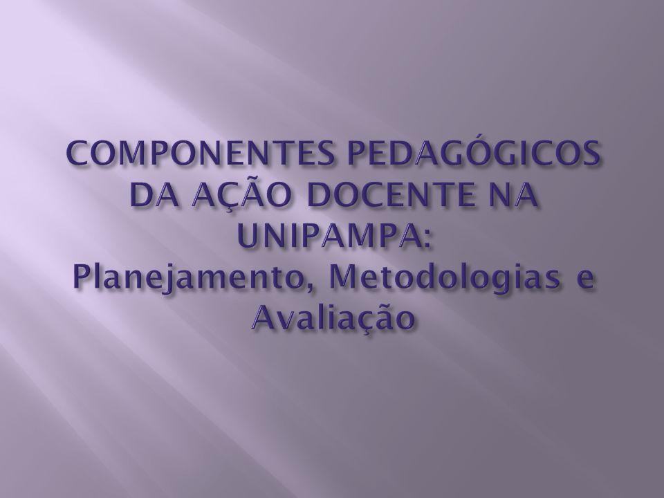 COMPONENTES PEDAGÓGICOS DA AÇÃO DOCENTE NA UNIPAMPA: Planejamento, Metodologias e Avaliação
