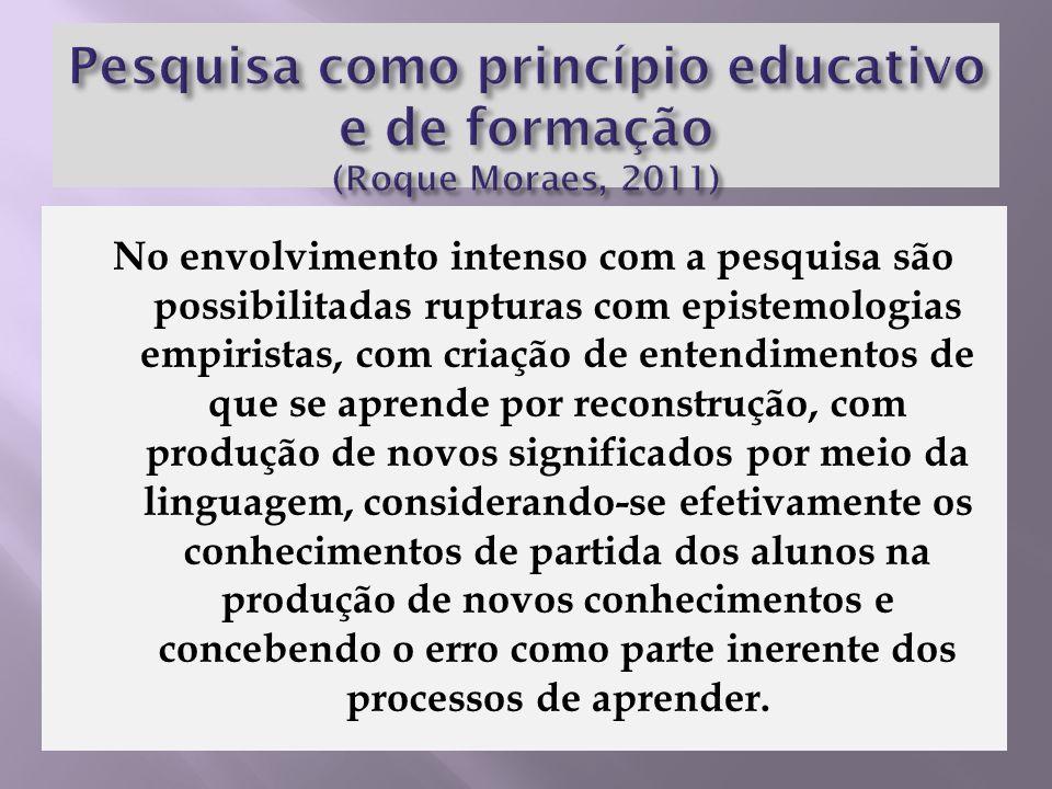 Pesquisa como princípio educativo e de formação (Roque Moraes, 2011)