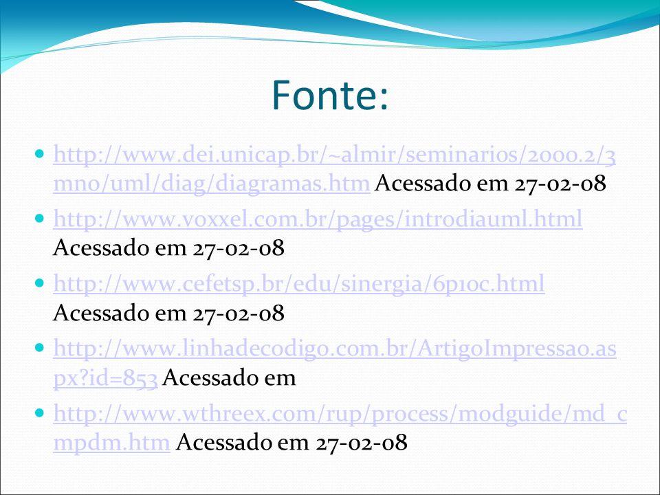 Fonte: http://www.dei.unicap.br/~almir/seminarios/2000.2/3 mno/uml/diag/diagramas.htm Acessado em 27-02-08.