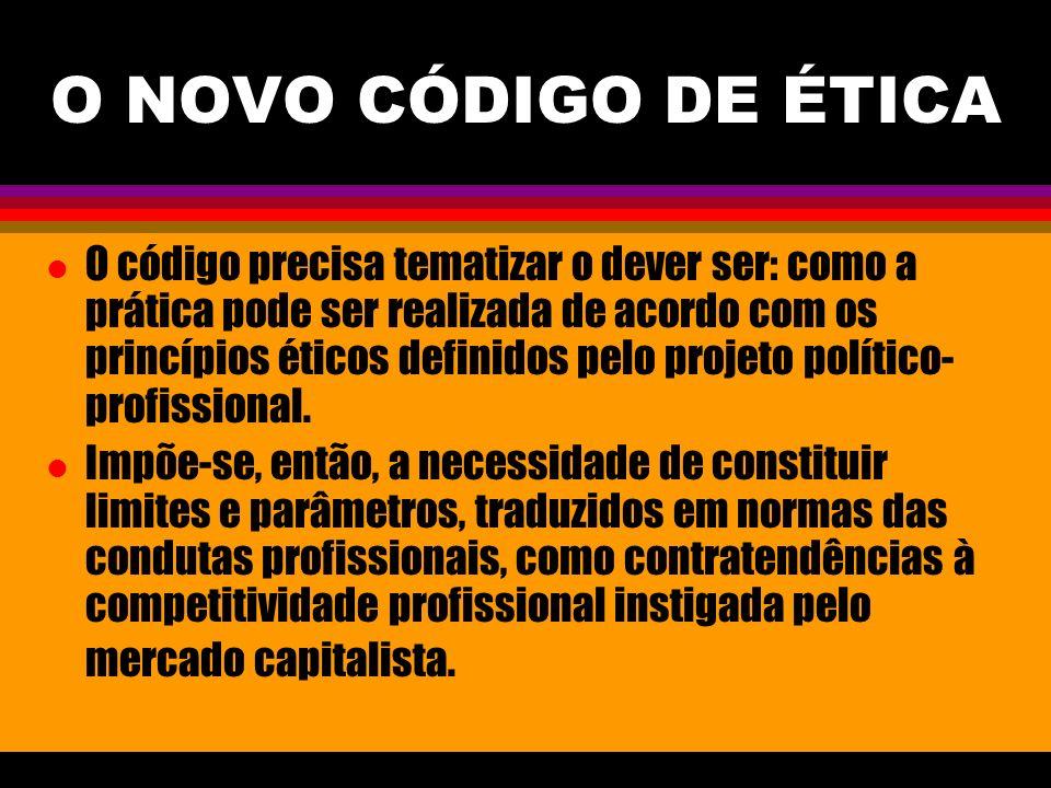O NOVO CÓDIGO DE ÉTICA