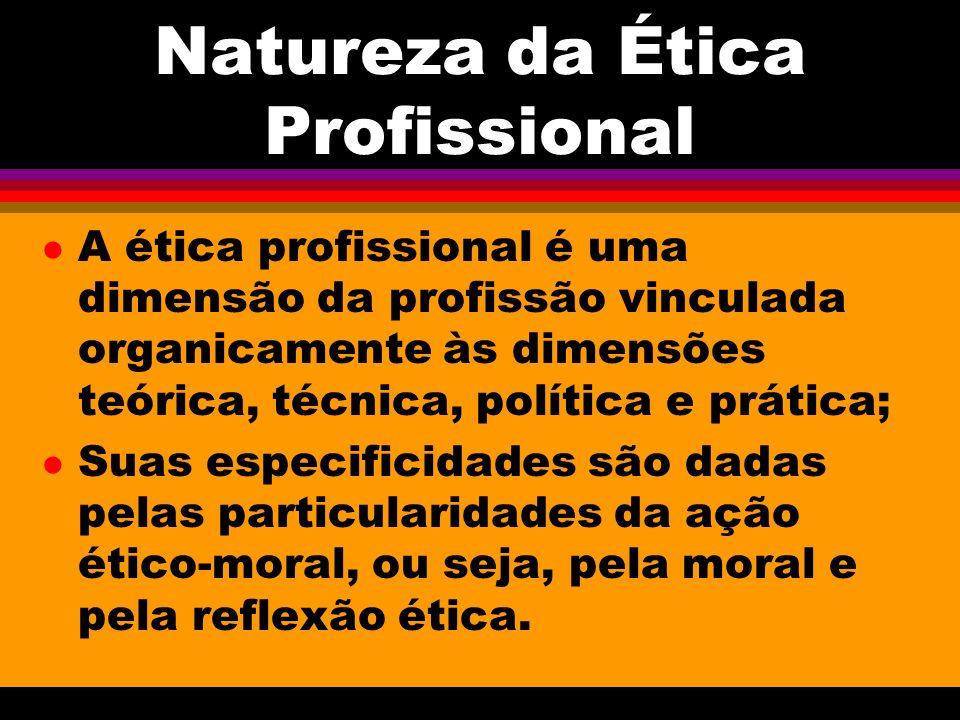 Natureza da Ética Profissional
