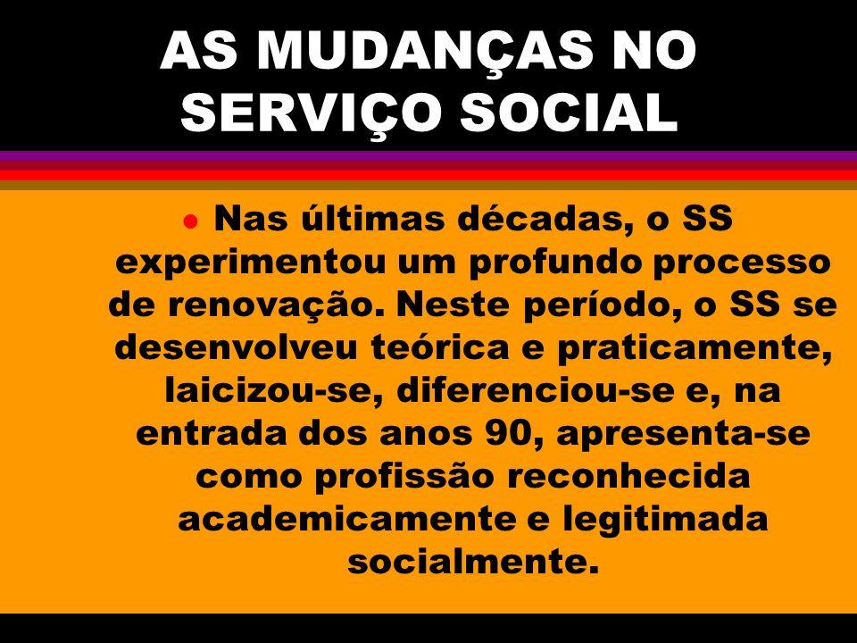 AS MUDANÇAS NO SERVIÇO SOCIAL