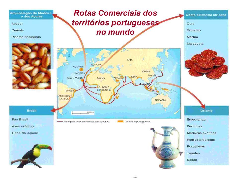 Rotas Comerciais dos territórios portugueses no mundo