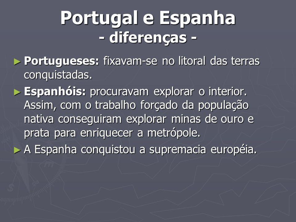 Portugal e Espanha - diferenças -