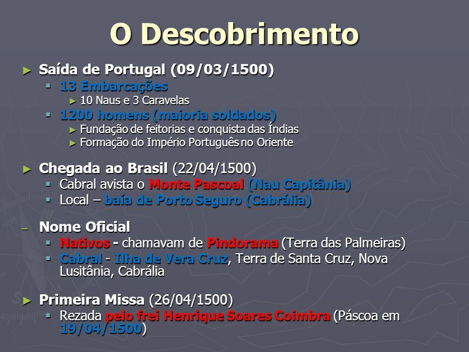O Descobrimento Saída de Portugal (09/03/1500)