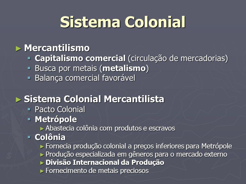Sistema Colonial Mercantilismo Sistema Colonial Mercantilista