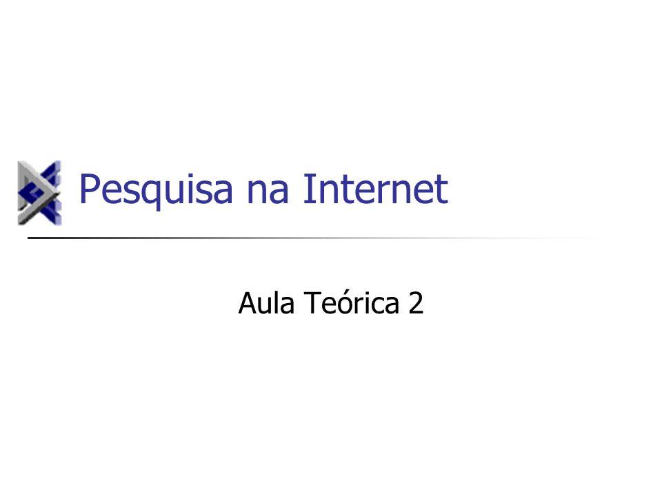 Pesquisa na Internet Aula Teórica 2