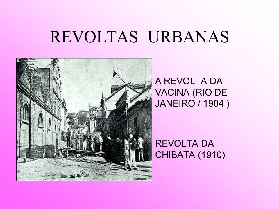 REVOLTAS URBANAS A REVOLTA DA VACINA (RIO DE JANEIRO / 1904 )
