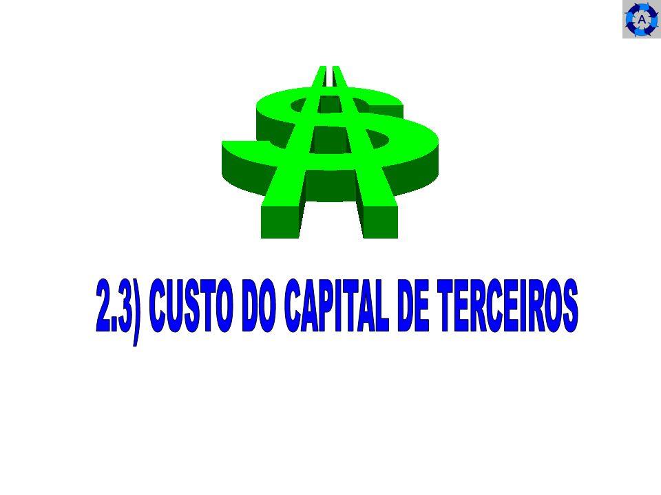 2.3) CUSTO DO CAPITAL DE TERCEIROS