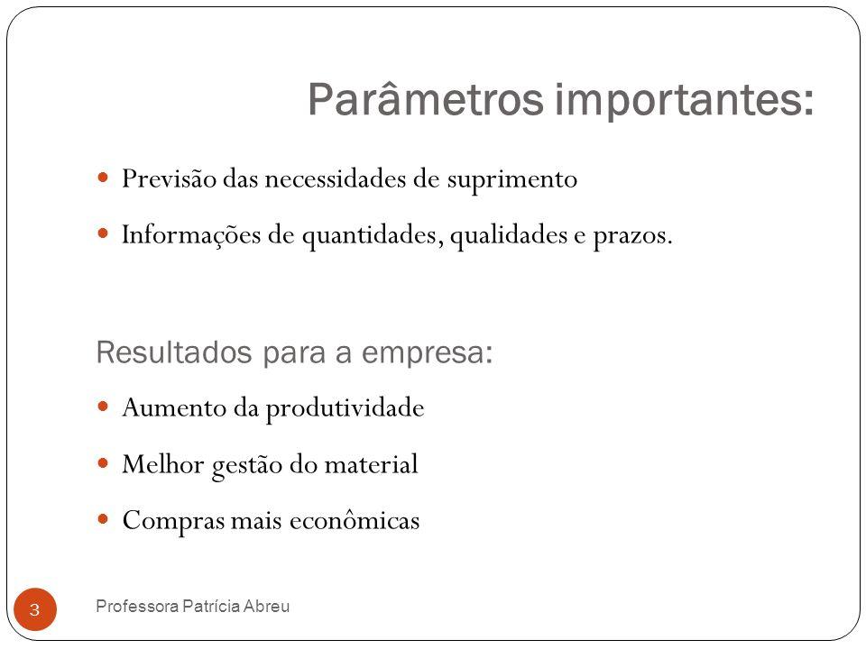 Parâmetros importantes: