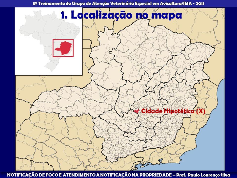 1. Localização no mapa Cidade Hipotética (X)