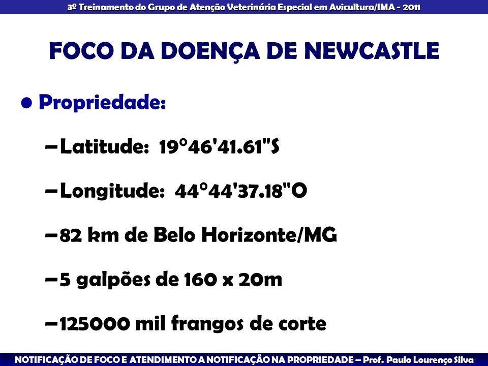 FOCO DA DOENÇA DE NEWCASTLE