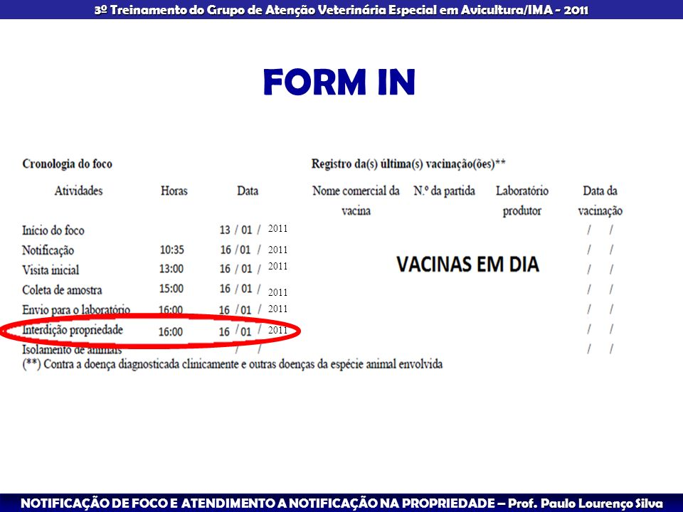 FORM IN 2011 2011 2011 2011 2011 2011